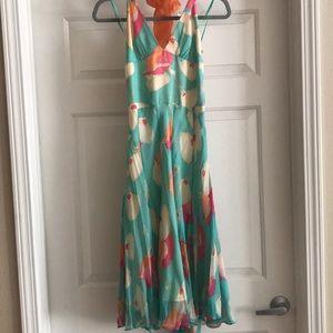 BCBG MaxAzria halter floral dress